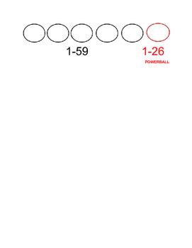 Powerball Math Worksheet