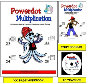 Combo Pack: Powerdot Multiplicaion: Workbook, CD and Lyric Booklet