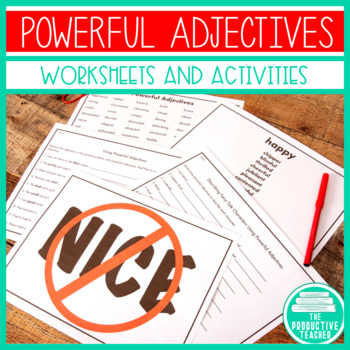 Powerful Adjectives - Creative Writing - Common Core Standards