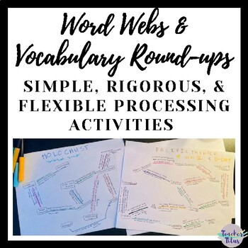 Powerful Instructional Strategies: Word Webs & Vocabulary Round-Ups (Editable)