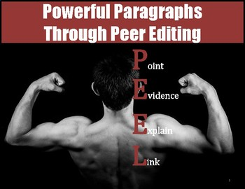 Powerful Paragraphs Through Peer Editing PEEL Paragraphs