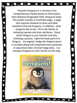 Powerful Penguins: Common Core Comprehension Packet