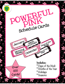 Powerful Pink Schedule Cards!
