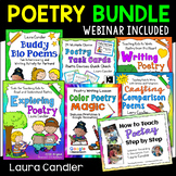 Poetry Unit Bundle | Poetry Lessons, Activities, Task Cards, and PD Webinar
