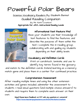 Powerful Polar Bears: Guided Reading Activity Pack