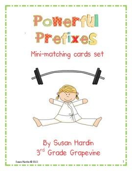 Powerful Prefixes:  Mini Matching Cards Set