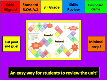 Powerful Products Multiplication Board Game