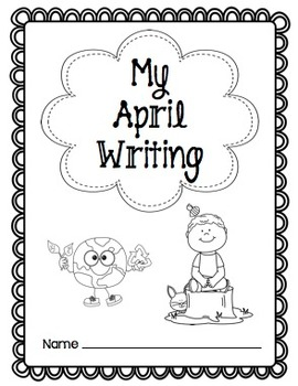 Writing Prompts-April {Task Cards and Journal Prompts for Writing Stations}