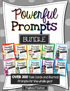 Writing Prompts BUNDLE {OVER 300 Prompts for Writing Centers for the YEAR}