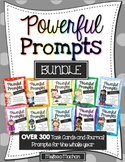 Writing Prompts BUNDLE {OVER 300 Prompts for Writing Cente