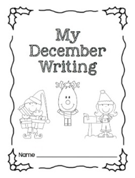 Writing Prompts-December {Task Cards and Journal Prompts for Writing Stations}