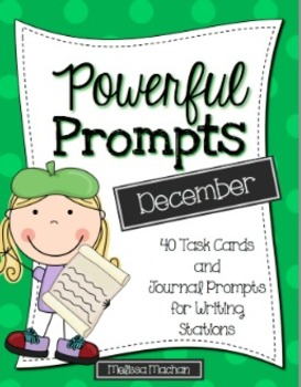 Writing Prompts-December {Task Cards and Journal Prompts f
