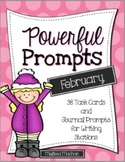 Writing Prompts-February {Prompts for Writing Centers}