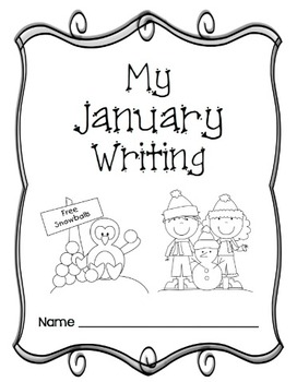 Writing Prompts-January {Task Cards and Journal Prompts for Writing Stations}