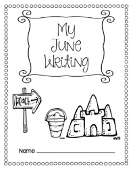 Writing Prompts-June {Task Cards and Journal Prompts for Writing Stations}