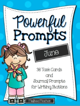Writing Prompts-June {Task Cards and Journal Prompts for W