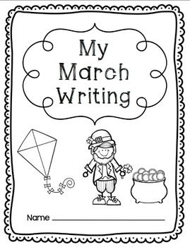 Writing Prompts-March {Task Cards and Journal Prompts for Writing Stations}