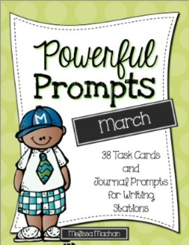 Writing Prompts-March {Task Cards and Journal Prompts for