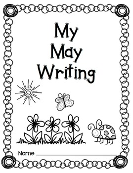 Writing Prompts-May {Task Cards and Journal Prompts for Writing Stations}