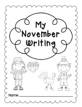 Writing Prompts-November {Task Cards and Journal Prompts for Writing Stations}