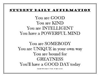 Powerful Student Affirmation Script