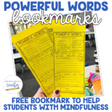 Powerful Words Bookmarks