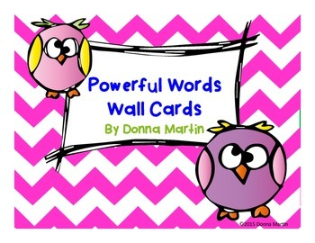 Powerful Words Set Owl Themed