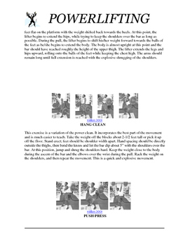 Powerlifting w/ Coaching Points & Hyperlinks to Videos