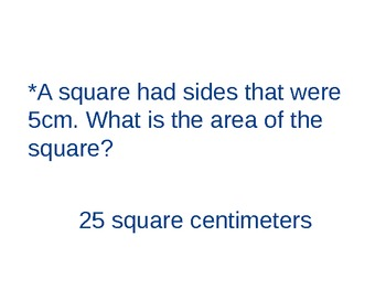 Powerpoint Area and Perimeter Word Problems