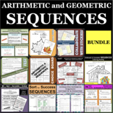 BUNDLE Arithmetic Geometric Sequences Common Ratio Difference