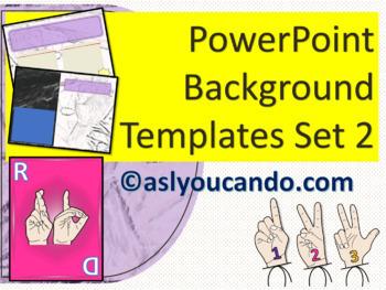 ASL Powerpoint Background Templates Set 2