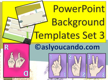 ASL Powerpoint Background Templates Set 3