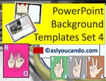 ASL Powerpoint Background Templates Set 4