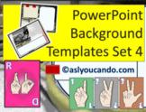ASL Powerpoint Backgrounds Set 4