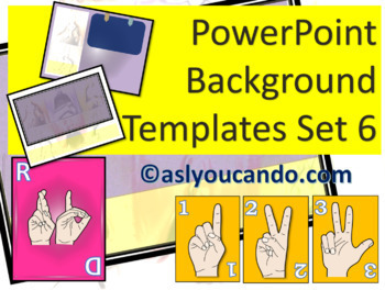 ASL Powerpoint Background Templates Set 6