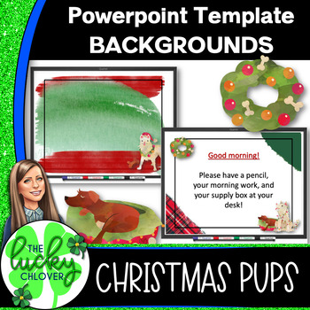 Powerpoint Backgrounds | Christmas Decor | Christmas Dogs