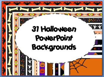 31 Powerpoint Backgrounds - Halloween Collection