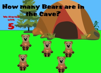 Partitioning Emergent Numbers - Powerpoint - Bears in a Cave