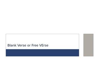 Powerpoint:  Blank verse or free verse