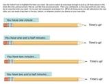 Powerpoint Classwork Timers (Pencil Shape)