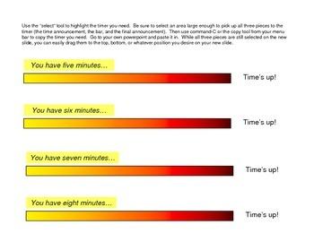 Powerpoint Classwork Timers (Warm Colors)