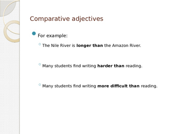 Powerpoint: Comparative and Superlative Adjectives
