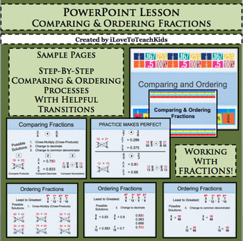 Powerpoint Comparing & Ordering Fractions Interactive Lesson