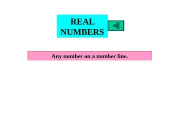 Powerpoint Complex Number System with graphing on a number line.