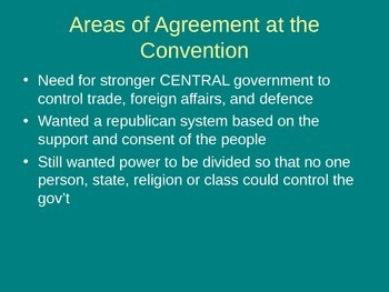 Powerpoint: Creation of the American Constitution