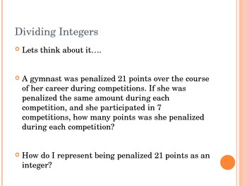 Powerpoint - Dividing Integers
