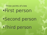 Powerpoint First Second Third Person points of view KS2