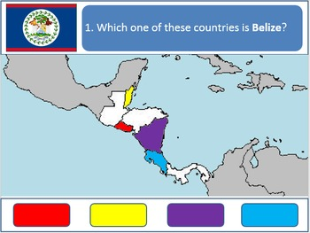 Powerpoint Game: Central American Geography