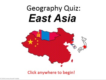 Powerpoint Game: East Asian Geography