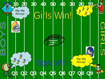 """Powerpoint Game """"Football Frenzy"""""""